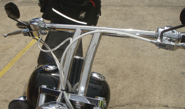Custom Stainless Steel HD Handle Bars (Fitted)